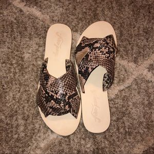 Free People Rio Vista Brown Snake Sandals BNITB| 8